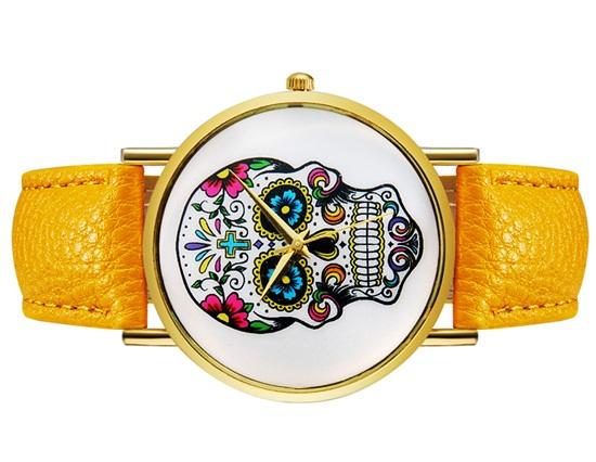 дамски-часаовник-жълта-каишка