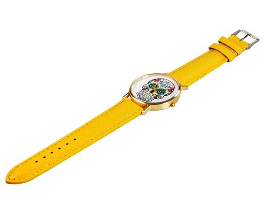 дамски-часовник-жълта-каишка